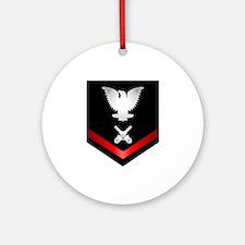Navy PO3 Gunner's Mate Ornament (Round)