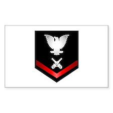 Navy PO3 Gunner's Mate Decal