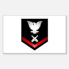 Navy PO3 Gunner's Mate Sticker (Rectangle)