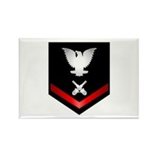 Navy PO3 Gunner's Mate Rectangle Magnet