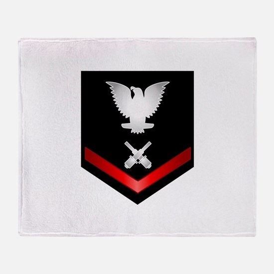 Navy PO3 Gunner's Mate Throw Blanket