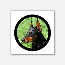 "Doberman Pinscher Dog Square Sticker 3"" x 3"""