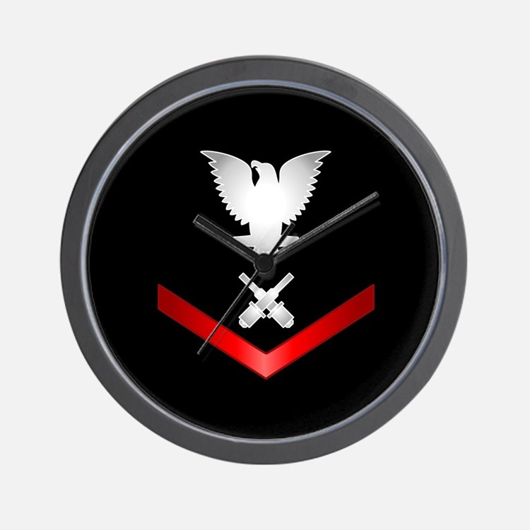 Navy PO3 Gunner's Mate Wall Clock