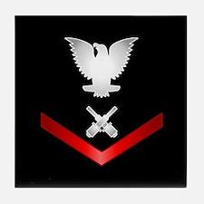 Navy PO3 Gunner's Mate Tile Coaster