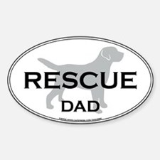 Rescue DAD Oval Decal