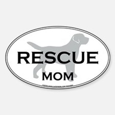 Rescue MOM Oval Decal