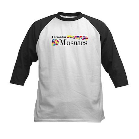 I break for Mosaics Kids Baseball Jersey
