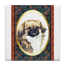 Tibetan Spaniel Designer Tile Coaster