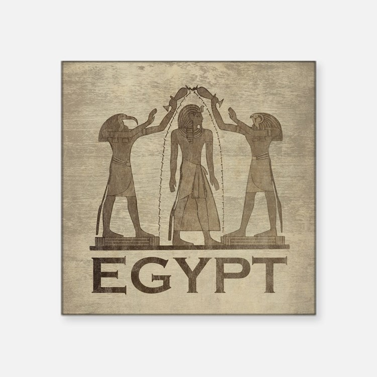 "Vintage Egypt Square Sticker 3"" x 3"""