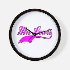 Mrs Lewis Wall Clock