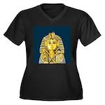 Tutankhamun Women's Plus Size V-Neck Dark T-Shirt