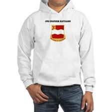 DUI - 4th Engineer Battalion with Text Hoodie