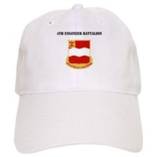 DUI - 4th Engineer Battalion with Text Baseball Cap