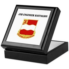 DUI - 4th Engineer Battalion with Text Keepsake Bo