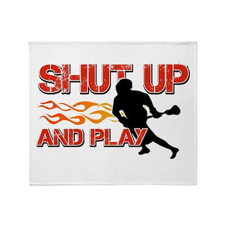 Cool Lacrosse Designs Throw Blanket