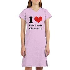 I Heart Fair Trade Chocolate Women's Nightshirt