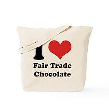 I Heart Fair Trade Chocolate Tote Bag