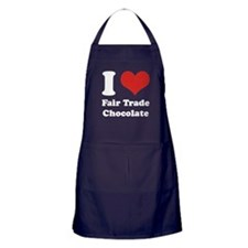 I Heart Fair Trade Chocolate Apron (dark)