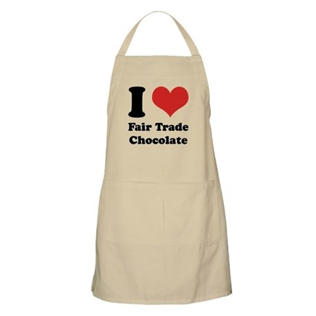 I Heart Fair Trade Chocolate Apron