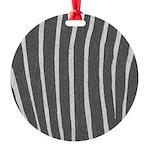 Zebra Print Round Ornament