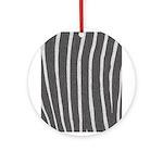 Zebra Print Ornament (Round)