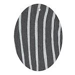 Zebra Print Ornament (Oval)