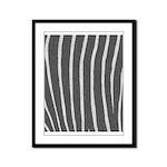 Zebra Print Framed Panel Print