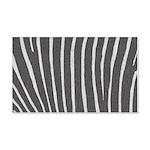 Zebra Print 20x12 Wall Decal