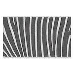 Zebra Print Sticker (Rectangle 50 pk)