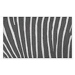 Zebra Print Sticker (Rectangle 10 pk)