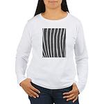 Zebra Print Women's Long Sleeve T-Shirt