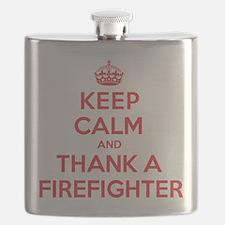 K C Thank Firefighter Flask