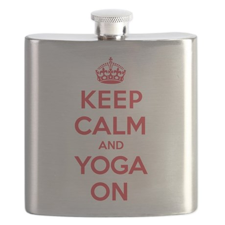 Keep Calm Yo-Yo Flask