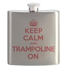 Keep Calm Trampoline Flask