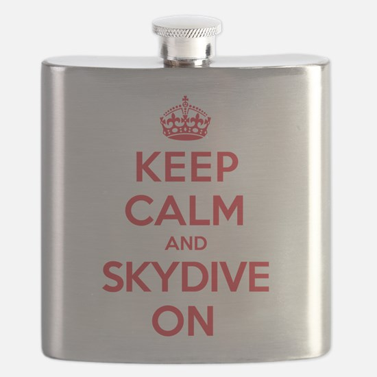 Keep Calm Skydive Flask