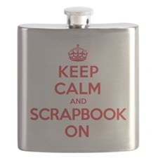 Keep Calm Scrapbook Flask
