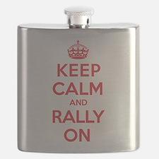 Keep Calm Rally Flask
