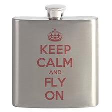Keep Calm Fly Flask