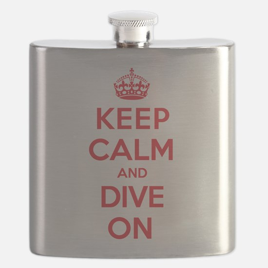 Keep Calm Dive Flask