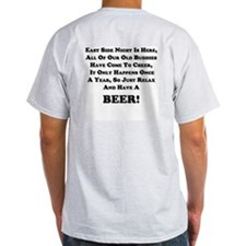 Have A Beer, On Back! Ash Grey T-Shirt