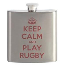 Keep Calm Play Rugby Flask