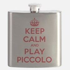 Keep Calm Play Piccolo Flask