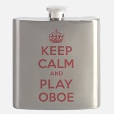 Keep Calm Play Oboe Flask