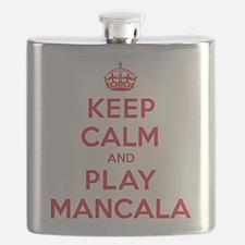 Keep Calm Play Mancala Flask