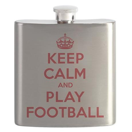 Keep Calm Play Football Flask