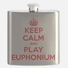 Keep Calm Play Euphonium Flask