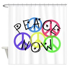PEACE NOW.PNG Shower Curtain