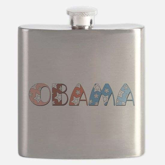 Star Patterned Obama dark transparent.png Flask