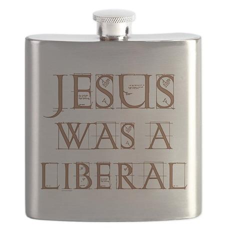 Jesus Was a Liberal dark transparent.png Flask