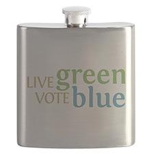 Live Green Vote Blue transparent.png Flask